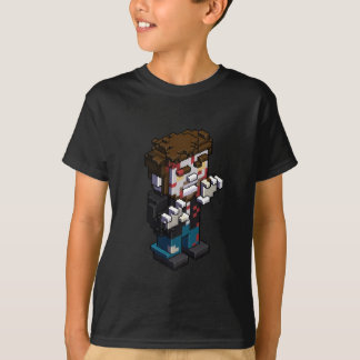 T-shirt Griffe isométrique de patron de zombi de Pixelart