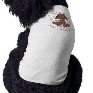 T-shirt Griffonnage de caniche