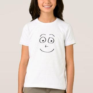 T-shirt Griffonnage noir et blanc de visage idiot