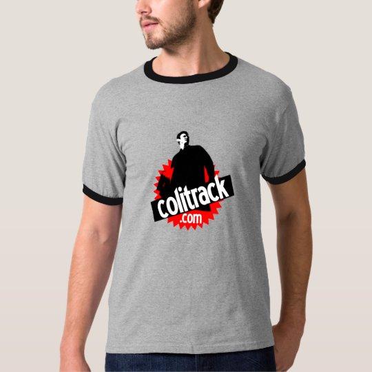 T shirt gris col noir t-shirt