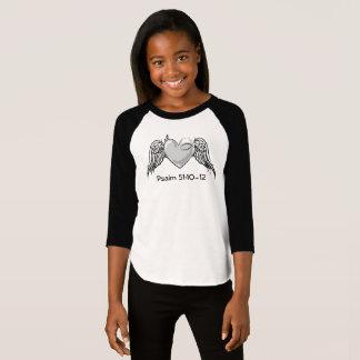T-shirt Gris de la jeunesse de filles du psaume 51