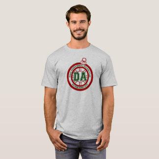 T-shirt Gris de pièce en t de tasse de congé annuel de
