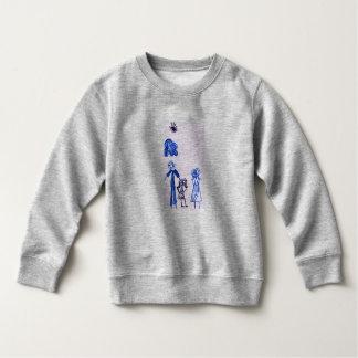 T-shirt gris du Jersey d'amende de bébé avec le