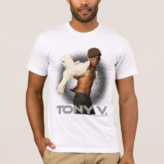 T-shirt Gris V-T-chemise-Ouvert élégant de blazer