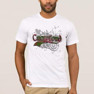 T-shirt Grunge de tartan de Crawford