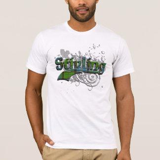 T-shirt Grunge de tartan de Stirling