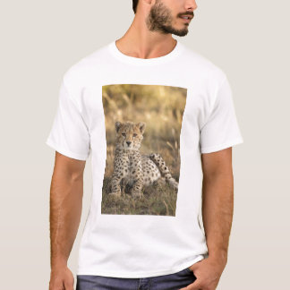 T-shirt Guépard, jubatus d'Acinonyx, petit animal étendant