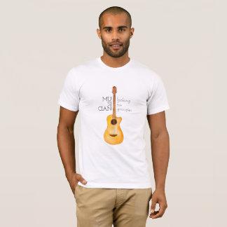 T-shirt Guitare acoustique, musicien recherchant des