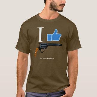 T-shirt GunLink I aiment des revolvers, pouces