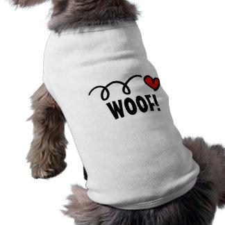 T-shirt Habillement d'animal familier avec le nom fait sur