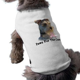 T-shirt Habillement d'animal familier de cancer du sein de