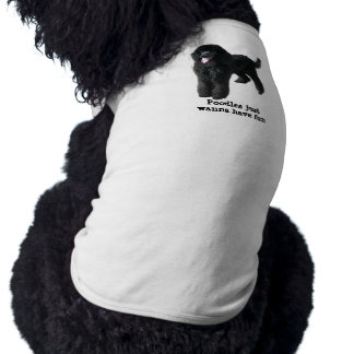 T-shirt Habillement d'animal familier de caniche