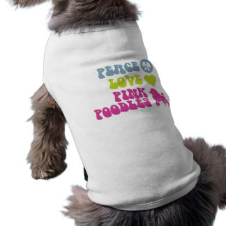 T-shirt Habillement d'animal familier de caniches de rose