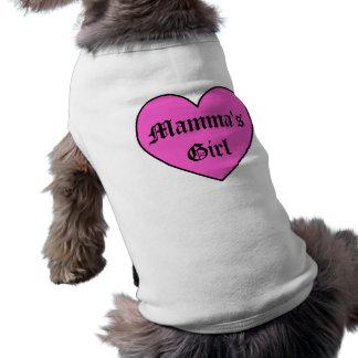 T-shirt Habillement d'animal familier de la fille du Mamma