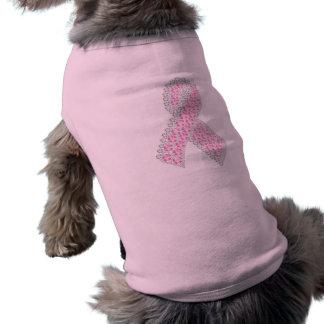 T-shirt Habillement d'animal familier de ruban de diamant