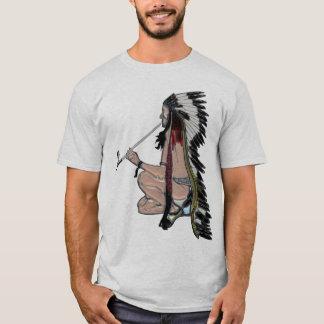 T-shirt Habillement du Natif américain POPART de tuyau de