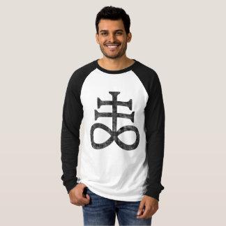 T-shirt Hail satan - 666 Cult croix antichrétien - réseau