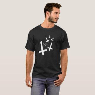 T-shirt Hail satan - 666 Cult Crosses antichrétien - Shirt