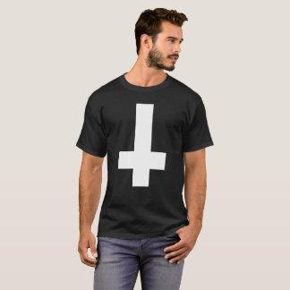 T-shirt Hail satan - croix 666 Cult - antichrétien Shirt