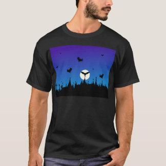 T-shirt Halloween-cimetière