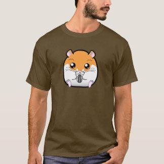 T-shirt Hamster blanc orange syrien régulier