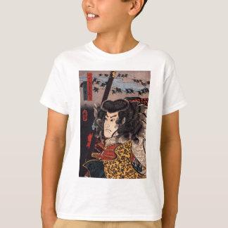 T-shirt Hara Hayato aucun Sho tenant une lance par Utagawa