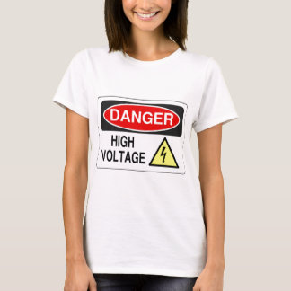T-shirt Haute tension de danger d'électricien