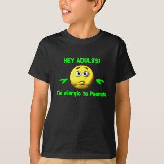 T-shirt Hé adultes - chemise d'allergie d'arachide
