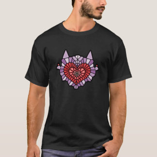 T-shirt Heart Voronoi
