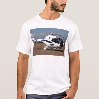 T-shirt Hélicoptère (bleu et blanc)