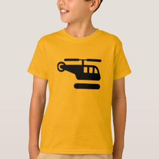 T-shirt Hélicoptère d'AIGA/signe d'héliport