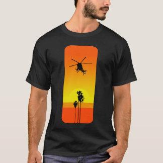 T-shirt Hélicoptère et coucher du soleil