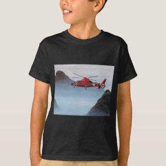 T-shirt Hélicoptère orange de la garde côtière