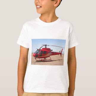 T-shirt Hélicoptère : rouge