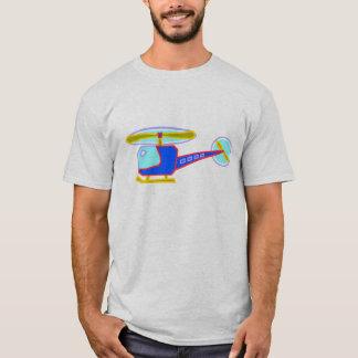 T-shirt Hélicoptère Whirly-Bouclé bleu