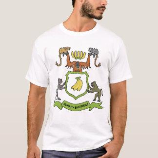T-shirt héraldique d'affaires de singe