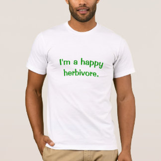 T-shirt Herbivore heureux