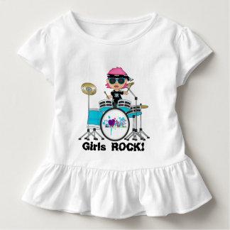 T-shirt hérissé par enfant en bas âge de roche de