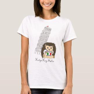 T-shirt Hérisson dans la pièce en t des femmes de l'Italie