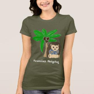 T-shirt Hérisson et palmier hawaïens