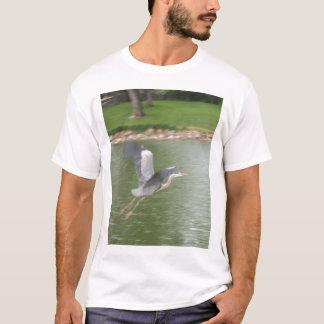 T-shirt Héron bleu