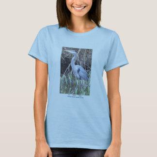T-shirt Héron de bleu de la chemise des femmes