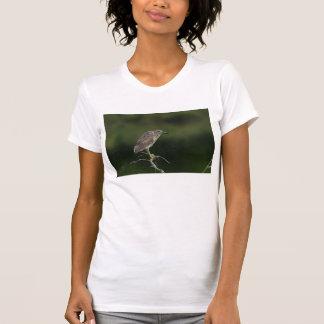 T-shirt Héron de nuit couronné par noir