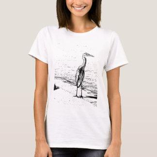 T-shirt Héron en encre