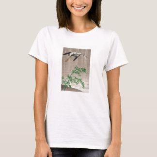 T-shirt Héron et bambou par Seitei Watanabe 1851 - 1918