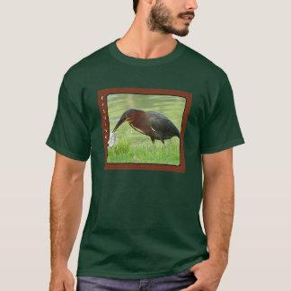 T-shirt Héron vert avec la chemise de poissons