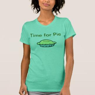 T-shirt Heure pour la chemise de tarte