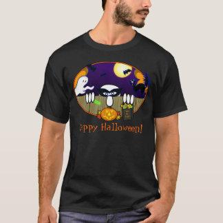 T-shirt heureux de Kilroy Halloween de des bonbons