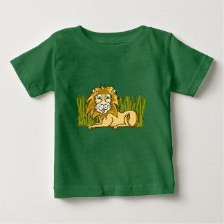T-shirt heureux du Jersey d'amende de bébé de lion