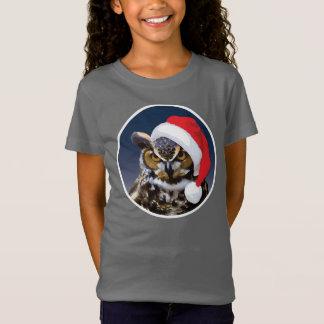 T-Shirt Hibou de Noël - Bella des filles+T-shirt du Jersey
